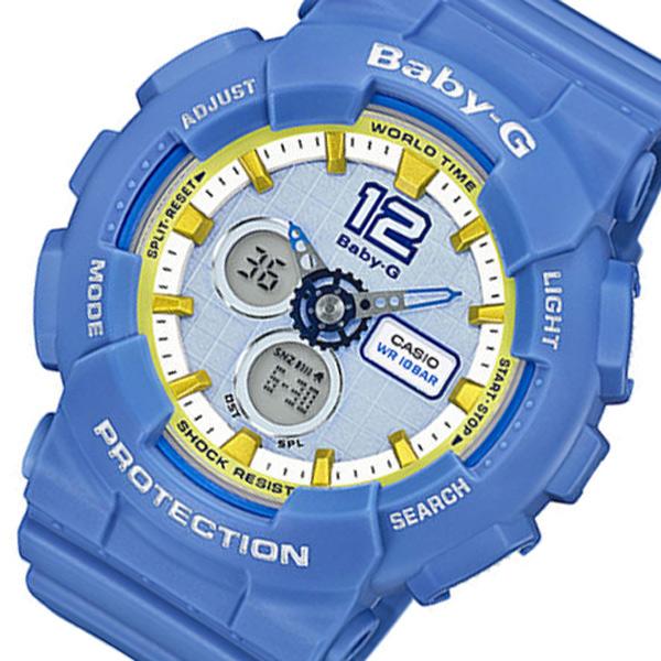カシオ CASIO ベビーG Baby-G デジタル レディース 腕時計 BA-120-2B ライトブルー