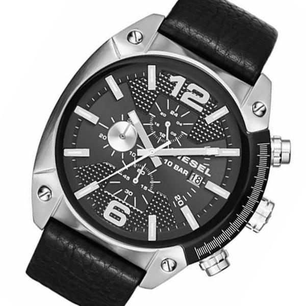 ディーゼル オーバーフロー クオーツ メンズ クロノ 腕時計 DZ4341 ブラック【送料無料】