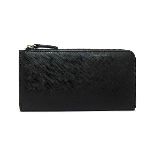 シルバノ ビアジーニ L字型ファスナー 長財布 メンズ 7848034 ブラック 送料無料IYH9ED2W