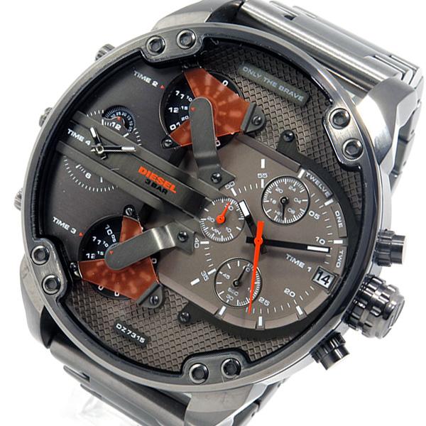 ディーゼル DIESEL ミスターダディ クロノ クオーツ メンズ 腕時計 DZ7315 ガンメタ【送料無料】