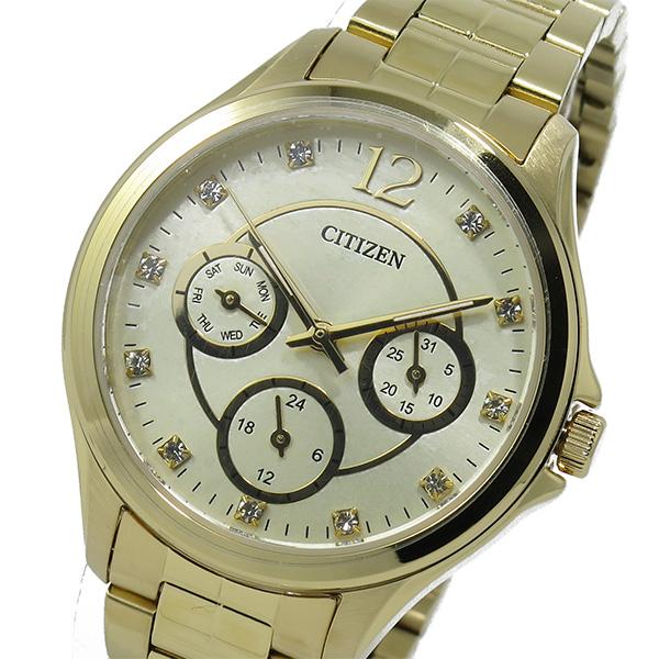 シチズン CITIZEN クオーツ レディース 腕時計 ED8142-51P ゴールド【送料無料】