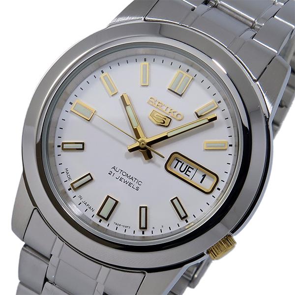 セイコー セイコーファイブ SEIKO 5 自動巻き メンズ 腕時計 SNKK07J1 ホワイト【送料無料】