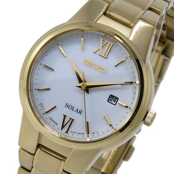 セイコー SEIKO ソーラー SOLAR クオーツ レディース 腕時計 SUT232P1 ホワイト【送料無料】