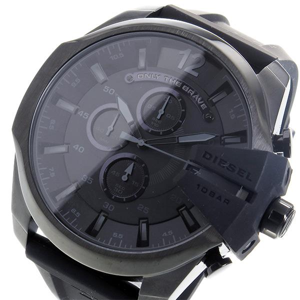 ディーゼル DIESEL メガチーフ クロノ クオーツ メンズ 腕時計 DZ4378 ブラック【送料無料】