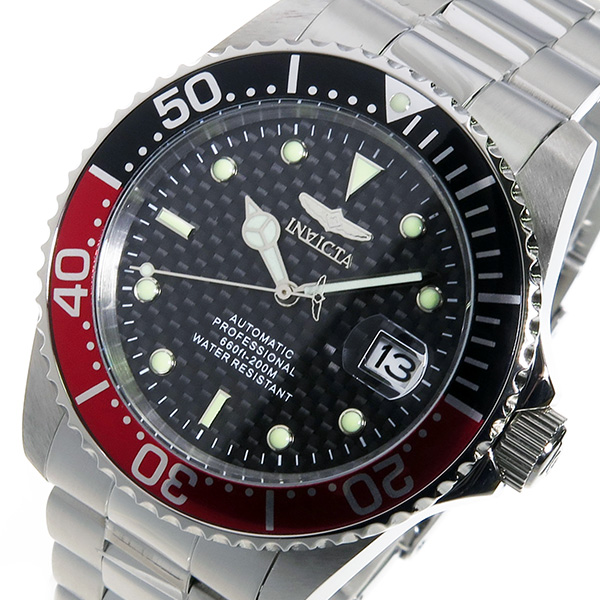 インヴィクタ INVICTA 自動巻き メンズ 腕時計 15585 レッド/ブラック【送料無料】