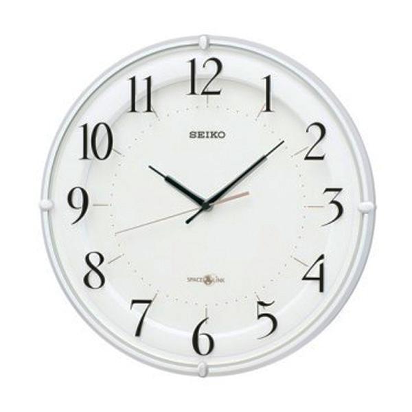 セイコー SEIKO 衛星電波クロック 掛け時計 GP216W ホワイト【送料無料】