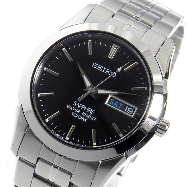 セイコー SEIKO クオーツ メンズ 腕時計 SGG715P1 ブラック【送料無料】