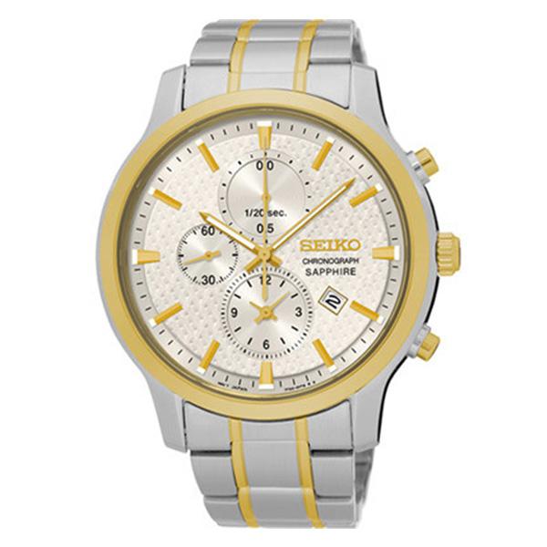 セイコー SEIKO クロノ クオーツ メンズ 腕時計 SNDG68P1 シルバー【送料無料】