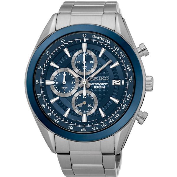 セイコー SEIKO クロノ クオーツ メンズ 腕時計 SSB177P1 ブルー【送料無料】