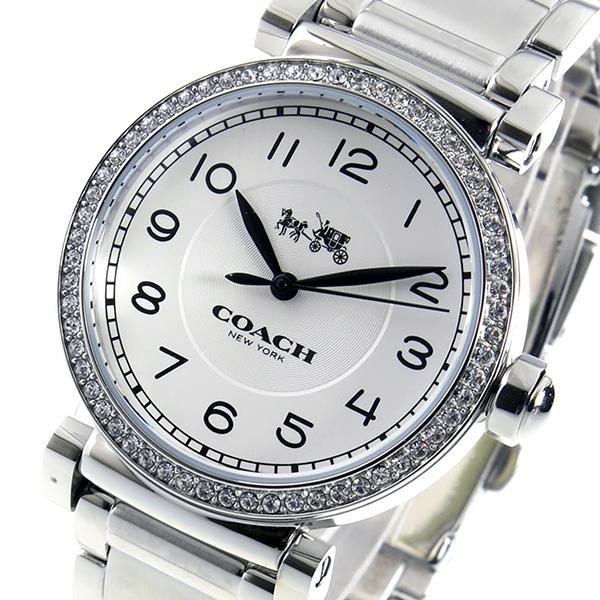 コーチ COACH マディソン クオーツ レディース 腕時計 14502396 ホワイト【送料無料】