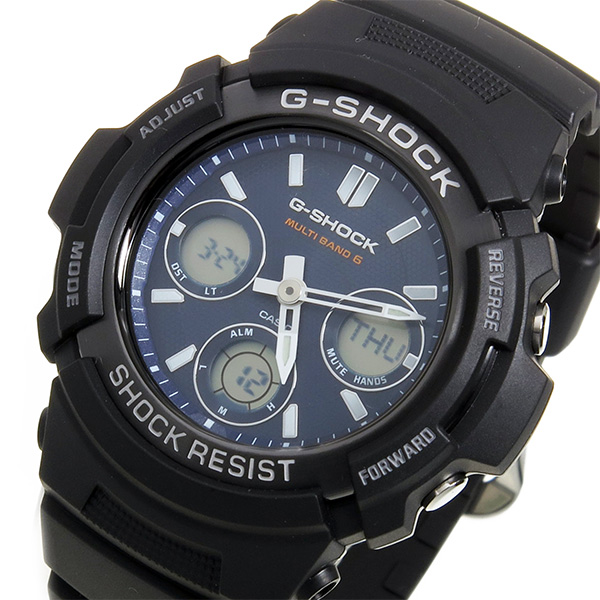 カシオ Gショック G-SHOCK クオーツ メンズ 腕時計 AWG-M100SB-2A ネイビー【送料無料】