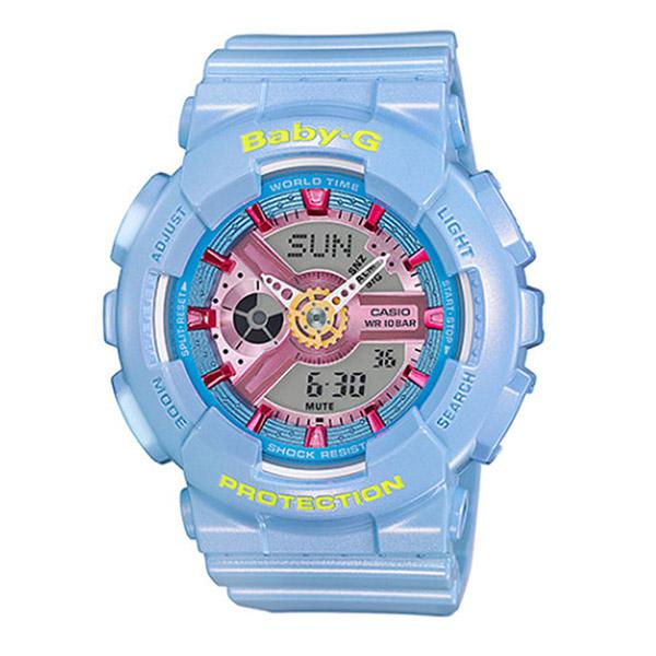 カシオ ベビーG BABY-G クオーツ レディース 腕時計 BA-110CA-2A ブルー【送料無料】