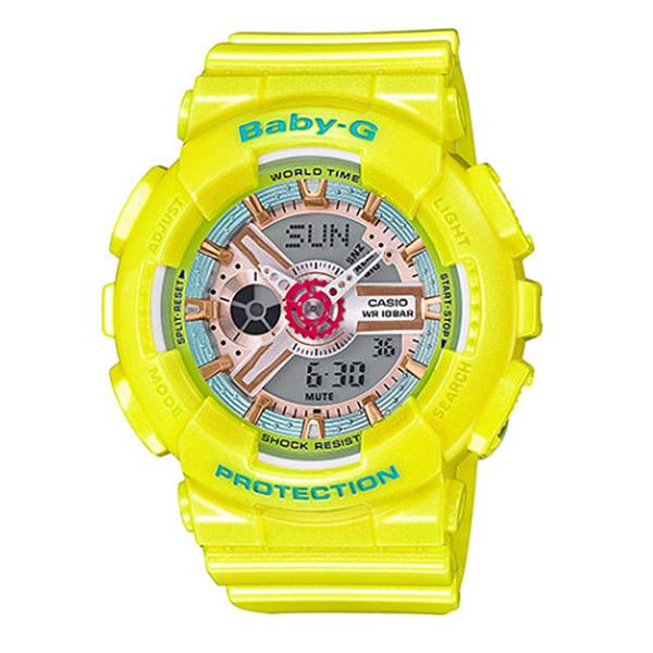 カシオ ベビーG BABY-G クオーツ レディース 腕時計 BA-110CA-9A イエロー