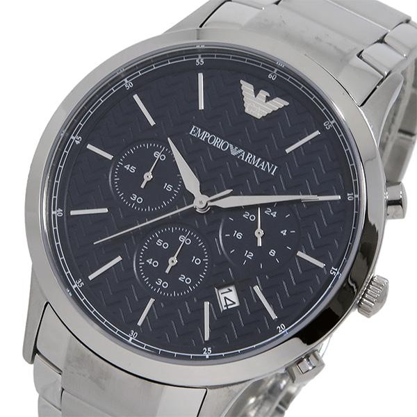 エンポリオ アルマーニ クオーツ クロノ メンズ 腕時計 AR2486 ブラック【送料無料】