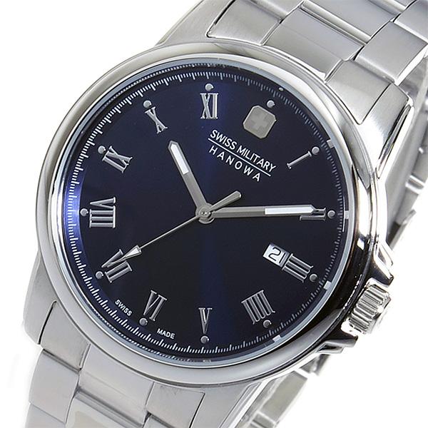 スイスミリタリー SWISS MILITARY クオーツ メンズ 腕時計 ML-376 ネイビー【送料無料】