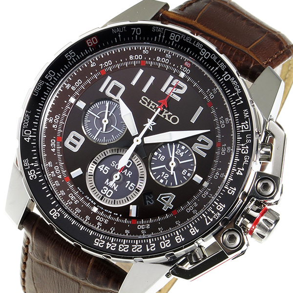 セイコー プロスペックス クロノ ソーラー クオーツ メンズ 腕時計 SSC279 ブラウン 送料無料e2H9WEDIYb