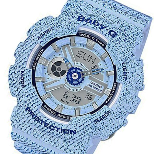 カシオ ベビーG デニムカラー クオーツ レディース 腕時計 BA-110DC-2A3 ブルー【送料無料】