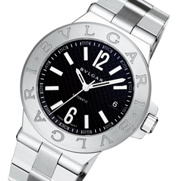 ブルガリ BVLGARI ディアゴノ 自動巻き メンズ 腕時計 DG40BSSD ブラック【送料無料】