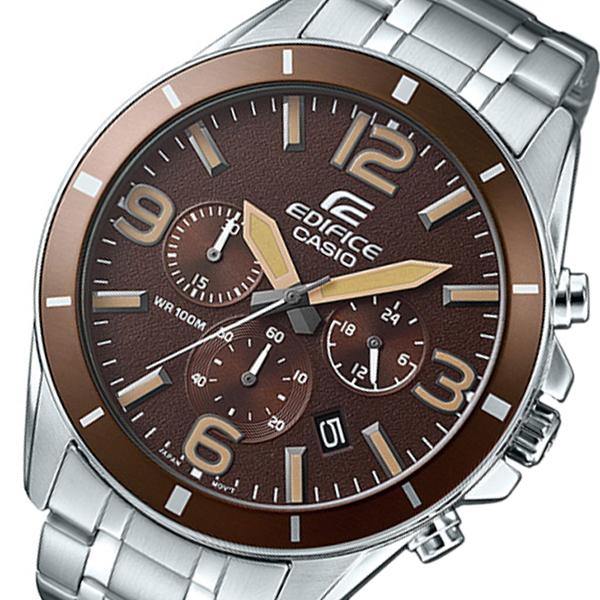 カシオ CASIO エディフィス クロノ クオーツ メンズ 腕時計 EFR-553D-5B ブラウン