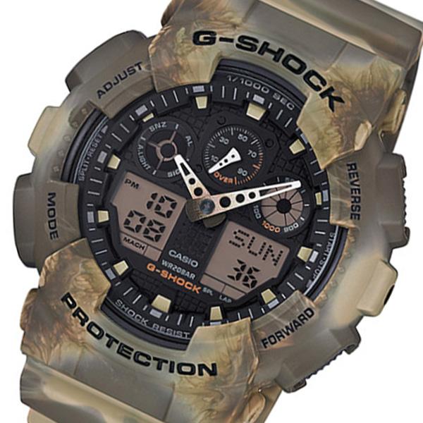 カシオ Gショック アナデジ クオーツ メンズ 腕時計 GA-100MM-5A ブラック/ブラウン
