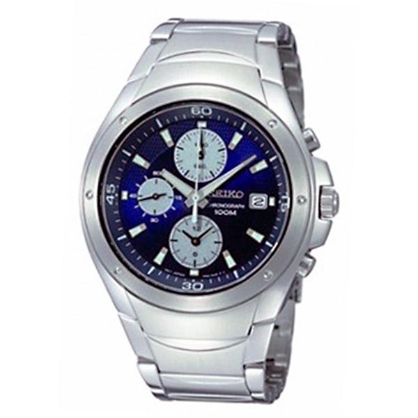 セイコー SEIKO クロノ クオーツ メンズ 腕時計 SND777P1 ネイビー【送料無料】