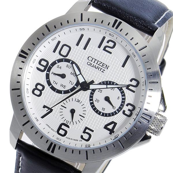 シチズン CITIZEN クオーツ メンズ 腕時計 時計 AG8310-08A ホワイト