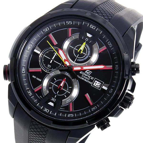 カシオ エディフィス クロノ クオーツ メンズ 腕時計 EFR-536PB-1A3V ブラック【送料無料】