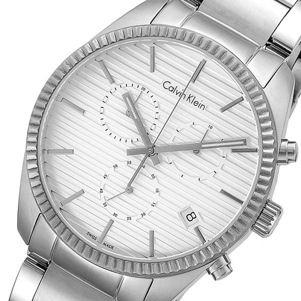 カルバンクライン Calvin Klein クロノ クオーツ メンズ 腕時計 K5R37146 ホワイト【送料無料】