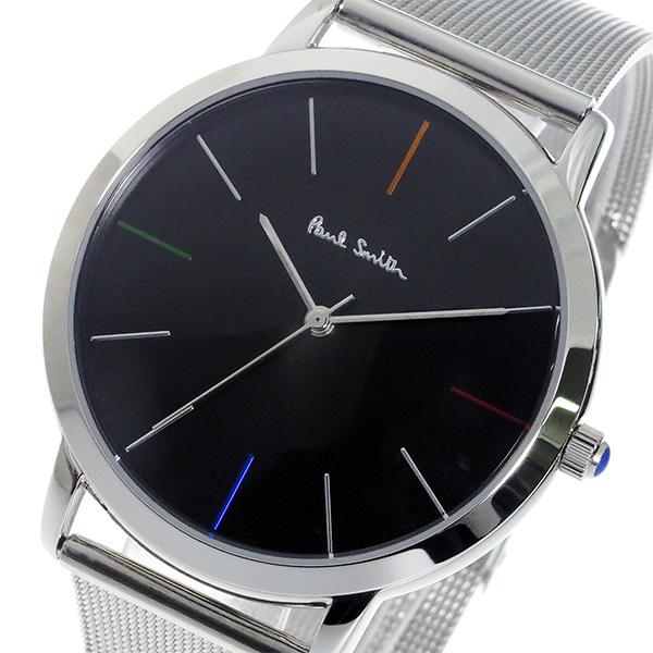 ポールスミス PAULSMITH エムエー MA クオーツ メンズ 腕時計 P10055 ブラック【送料無料】