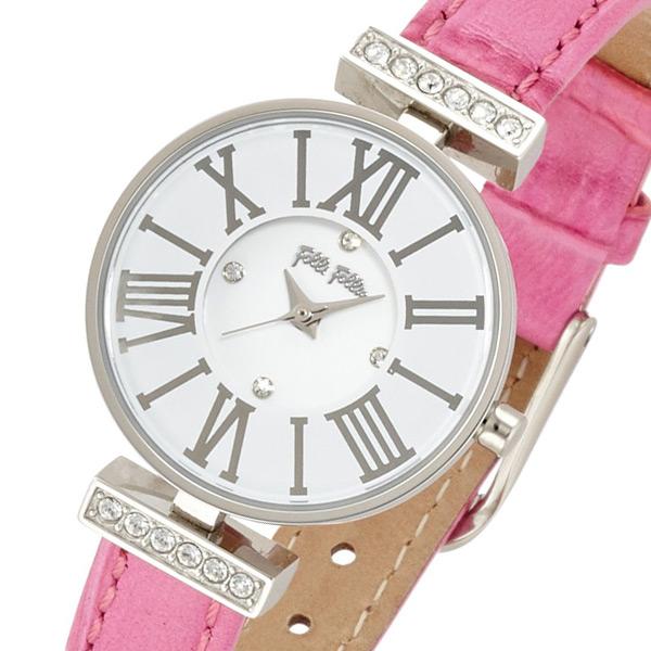 フォリフォリ ダイナスティ レディース 腕時計 WF13A014SSW-PI2 ホワイト【送料無料】