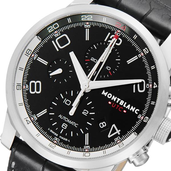モンブラン TIMEWALKER UTC クロノ 自動巻き メンズ 腕時計 107336 ブラック【】【楽ギフ_包装】