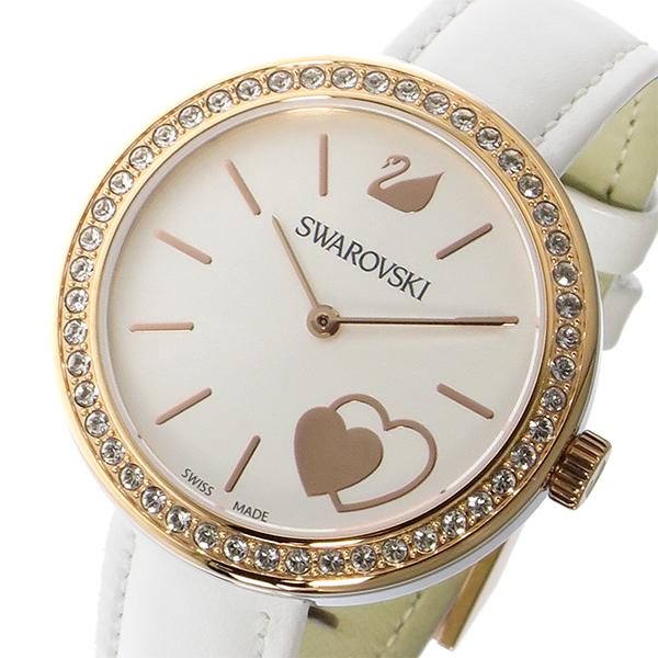 スワロフスキー SWAROVSKI クオーツ レディース 腕時計 5179367 ホワイト【送料無料】