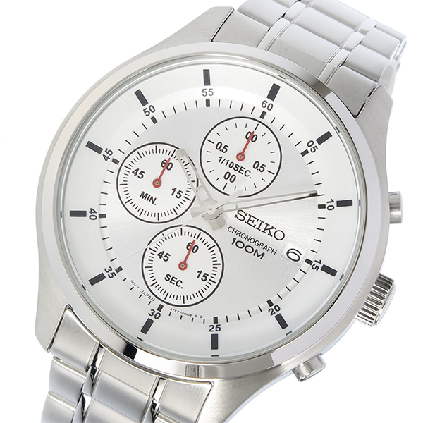 セイコー SEIKO クロノ クオーツ メンズ 腕時計 SKS535P1 シルバー【送料無料】
