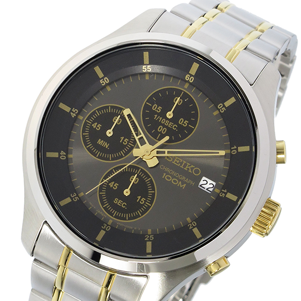セイコー SEIKO クロノ クオーツ メンズ 腕時計 SKS543P1 ブラック【送料無料】