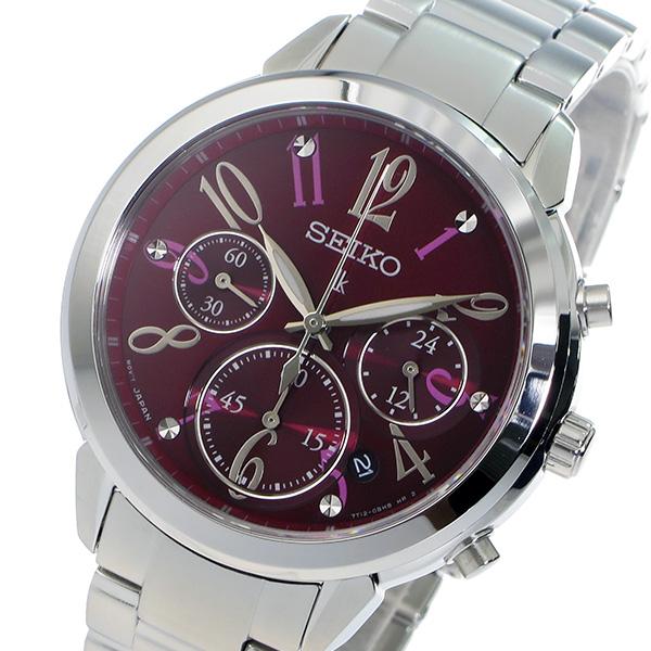 セイコー SEIKO クロノ ルキア クオーツ レディース 腕時計 SRW821P1 レッド【送料無料】