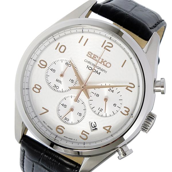 セイコー SEIKO クロノ クオーツ メンズ 腕時計 SSB227P1 シルバー【送料無料】