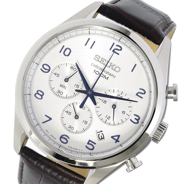 セイコー SEIKO クロノ クオーツ メンズ 腕時計 SSB229P1 シルバー【送料無料】