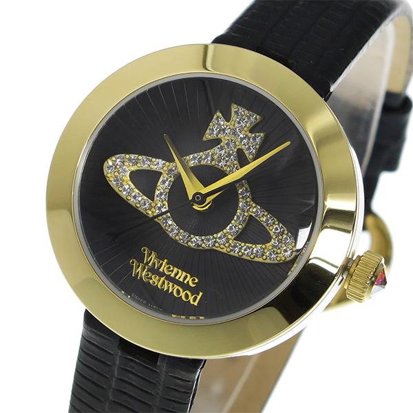 ヴィヴィアン ウエストウッド クオーツ レディース 腕時計 VV150GDBK ブラック【送料無料】
