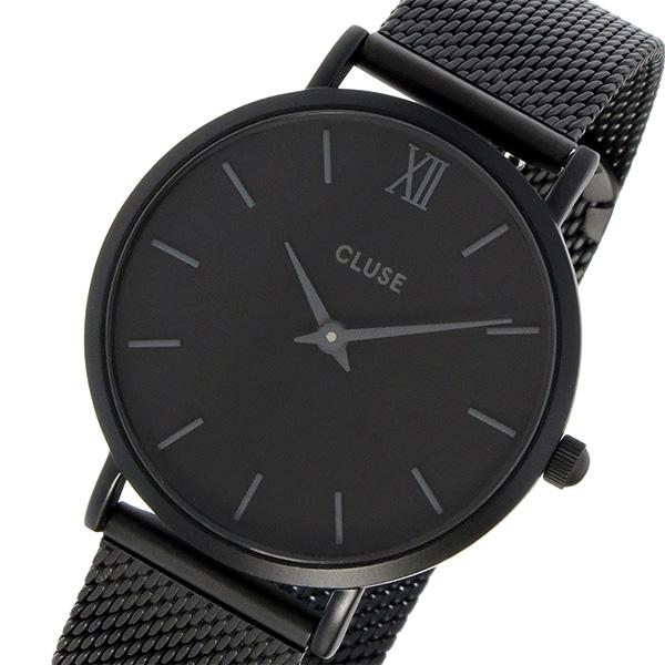 クルース CLUSE ミニュイ メッシュベルト 33mm レディース 腕時計 CL30011 ブラック/ブラック