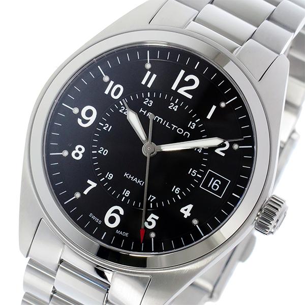 ハミルトン HAMILTON カーキ フィールド Khaki Field クオーツ メンズ 腕時計 H68551933 ブラック【送料無料】