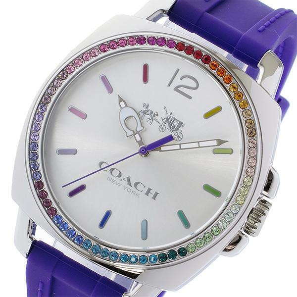 コーチ COACH ボーイフレンド ラインストーンベゼル クオーツ レディース 腕時計 14502530 パープル【送料無料】