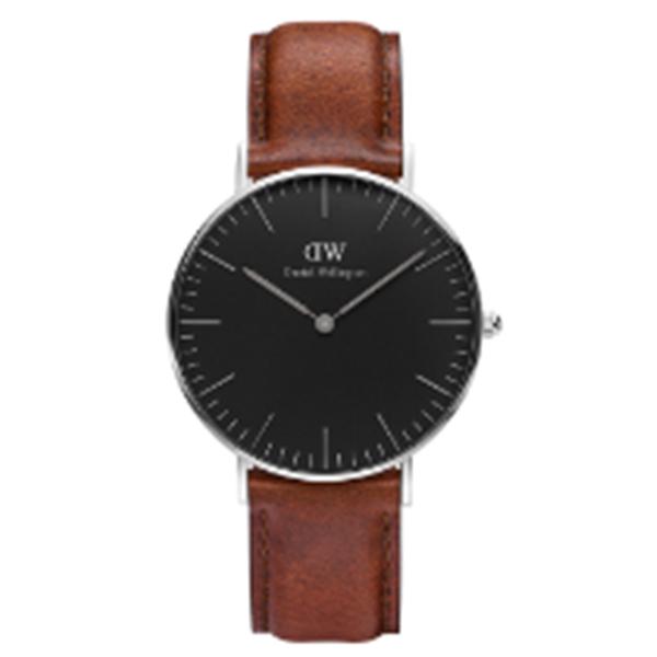 ダニエル ウェリントン クラシック ブラック セントモース/シルバー 36mm ユニセックス 腕時計 DW00100142【送料無料】