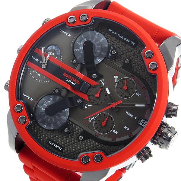 ディーゼル DIESEL ミスターダディ クロノ クオーツ メンズ 腕時計 DZ7370 ブラック【送料無料】
