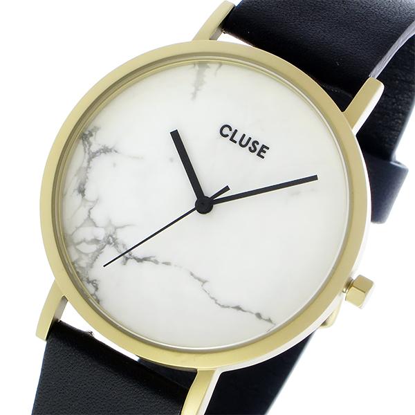 クルース CLUSE ラロッシュ 大理石モデル 38mm ユニセックス 腕時計 CL40003 ゴールド ホワイトマーブル/ブラック【送料無料】