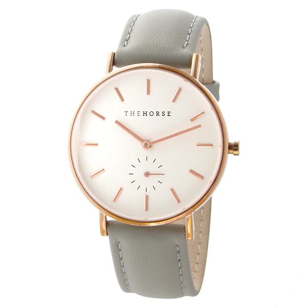 ザ ホース THE HORSE クラシック クオーツ ユニセックス 腕時計 AS01-B1 ホワイト/グレー【】【楽ギフ_包装】