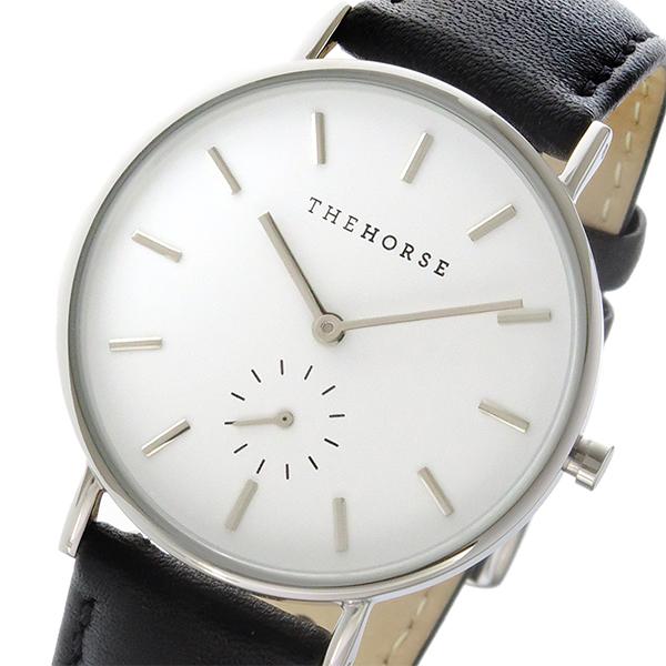 ザ ホース THE HORSE クラシック クオーツ ユニセックス 腕時計 AS01-B2 ホワイト/ブラック【】【楽ギフ_包装】