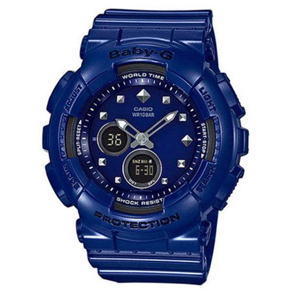 カシオ CASIO ベビーG BABY-G スタッズモチーフ クオーツ レディース 腕時計 BA-125-2A ブルー【送料無料】