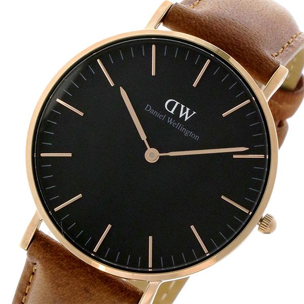 ダニエル ウェリントン クラシック ブラック ダラム/ローズ 36mm ユニセックス 腕時計 DW00100138【】【楽ギフ_包装】