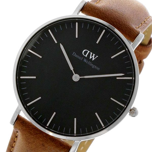 ダニエル ウェリントン クラシック ブラック ダラム/シルバー 36mm ユニセックス 腕時計 DW00100144【送料無料】