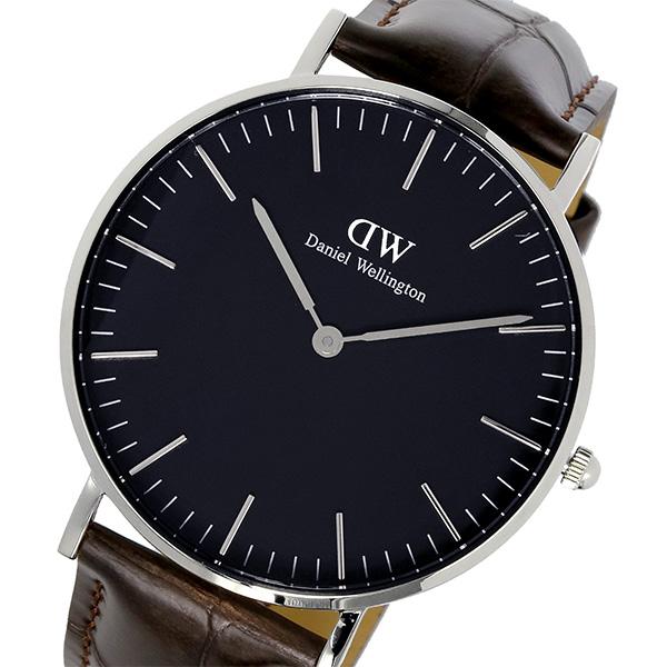 ダニエル ウェリントン クラシック ブラック ヨーク/シルバー 36mm ユニセックス 腕時計 DW00100146【送料無料】